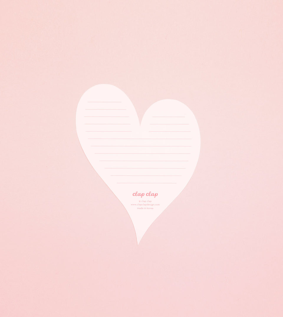 I LOVE YOU HEART CARD - PINK - GM36-K - Clap Clap