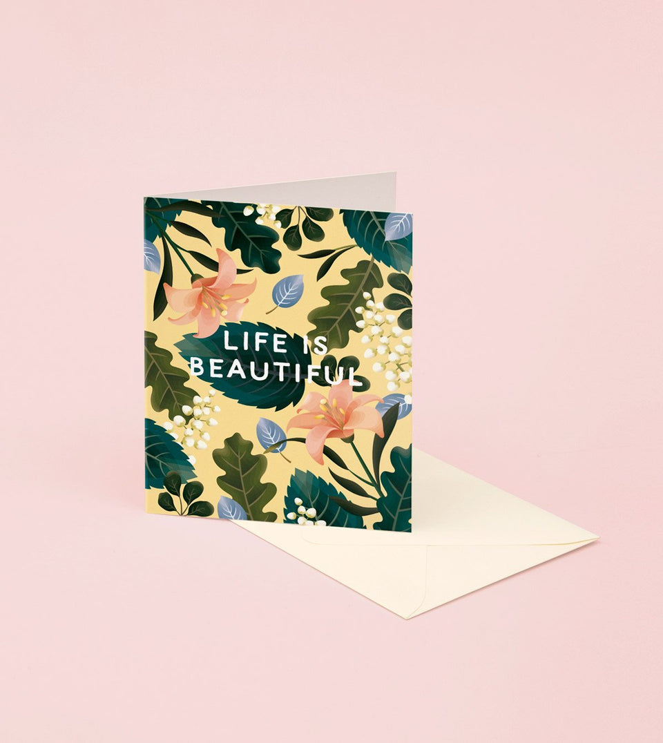 LIFE IS BEAUTIFUL CARD - GM17 - Clap Clap