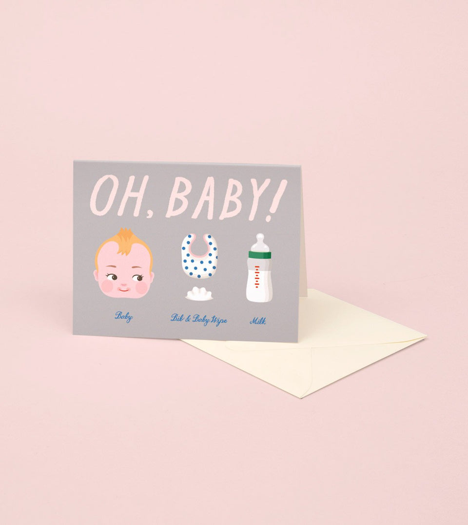 OH BABY CARD FOR BABY SHOWER - GM06 - Clap Clap