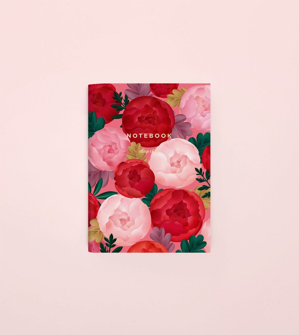 PEONY BLOSSOM POCKET NOTEBOOK - NP05 - Clap Clap