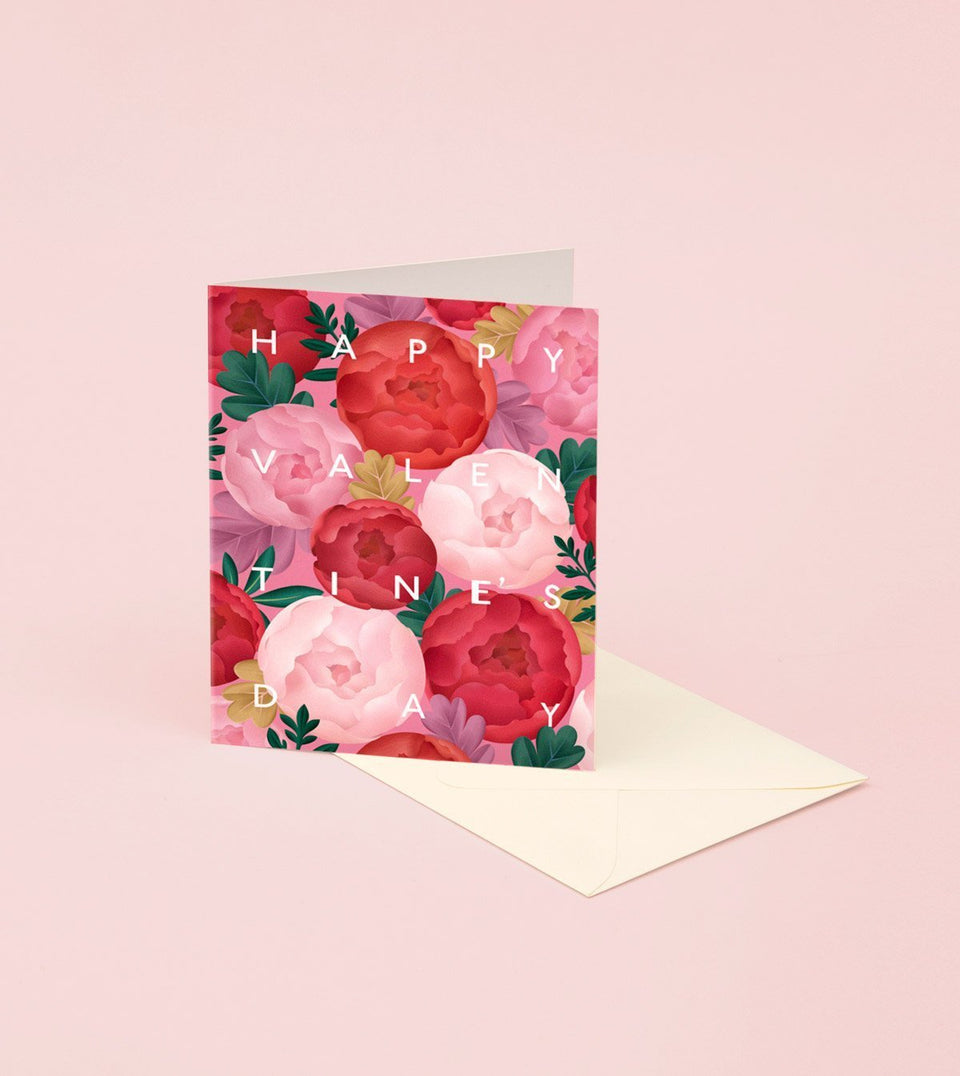 PEONY VALENTINE'S DAY CARD - GM33 - Clap Clap
