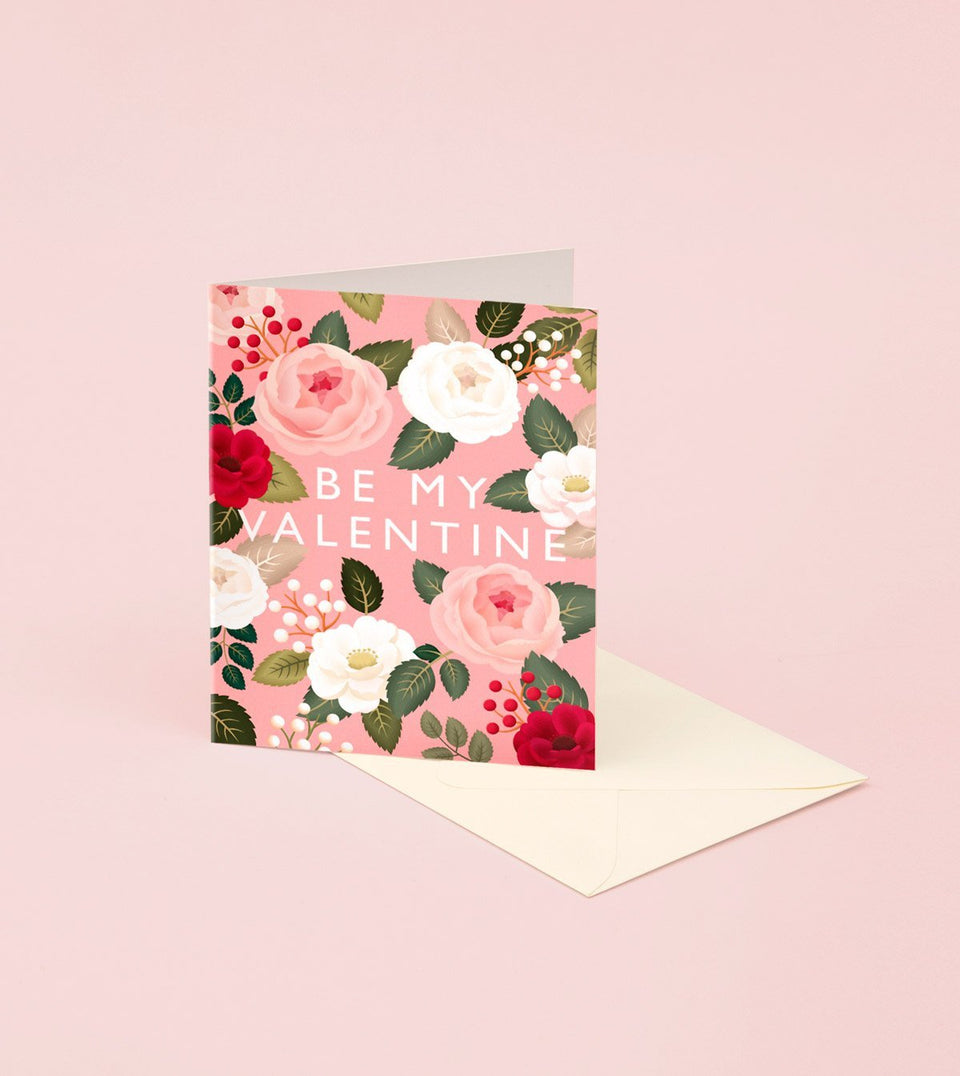 PINK ROSE VALENTINE'S DAY CARD - GM22 - Clap Clap
