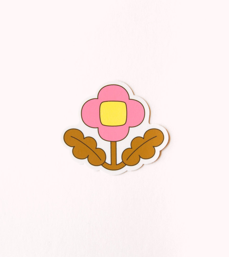 WATERPROOF FLOWER AESTHETIC STICKER - PINK WILDFLOWER - STK11 - Clap Clap