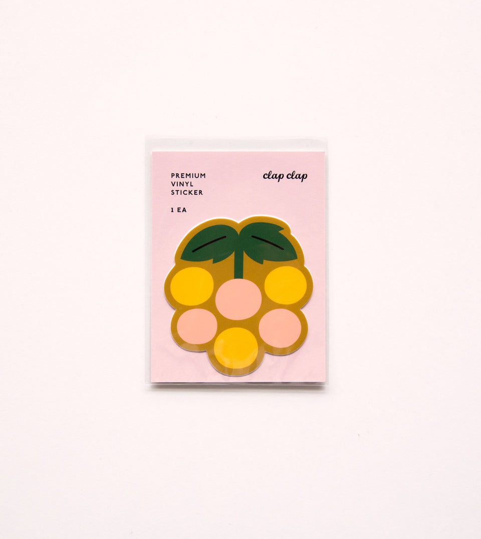 WATERPROOF FLOWER AESTHETIC STICKER - YELLOW BERRY - STK14 - Clap Clap
