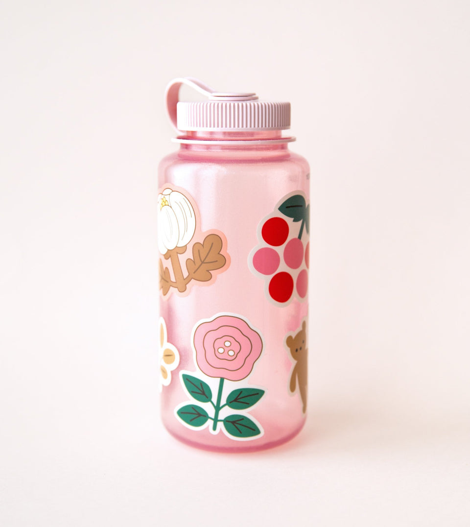 WATERPROOF FLOWER AESTHETIC STICKER - WHITE PEONY - STK01 - Clap Clap