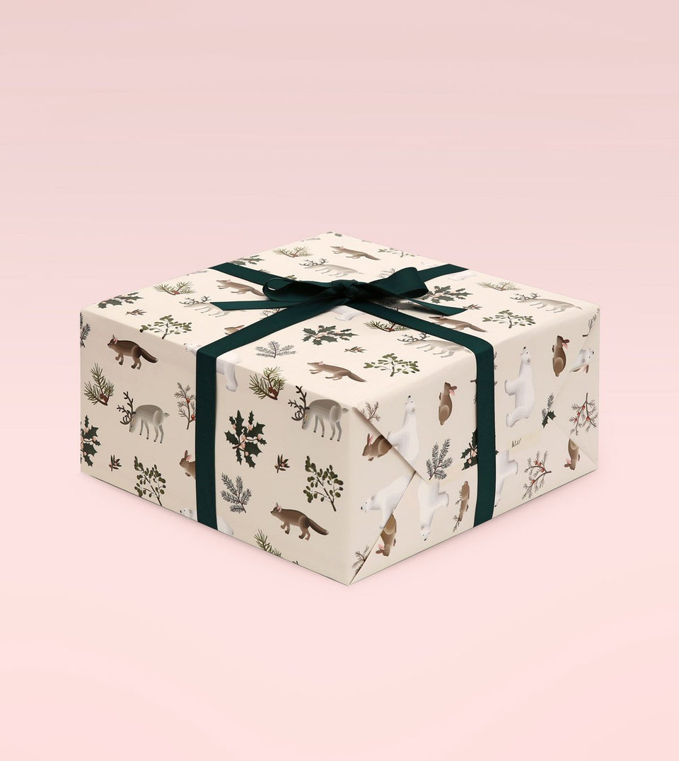 WILD ANIMALS WRAPPING PAPER - CREAM - WR09 - Clap Clap