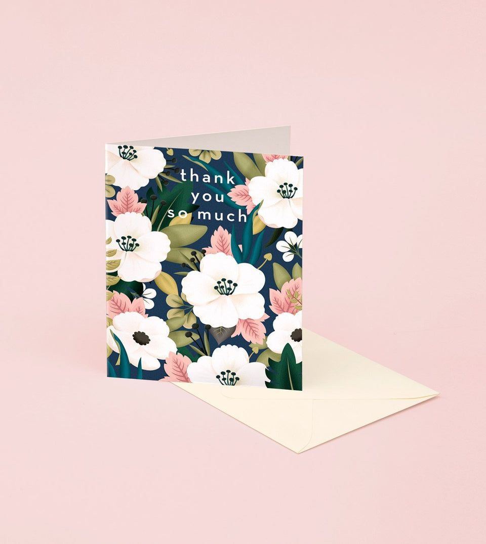 WILDFLOWER THANK YOU CARD - GT19 - Clap Clap