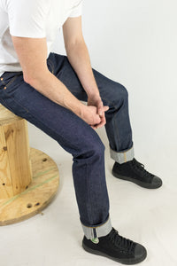 Chet Denim 101 Straight Fit Jeans Seated