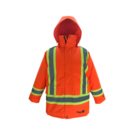 3957FRJO Viking IMPERMÉABLE HV Insulated Journeyman 300D Trilobal Rip-Stop FIREWALL Parka - LES OUTILS BRICK & IRON TOOL