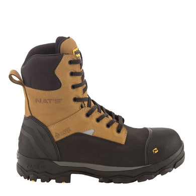 Botte de sécurité imperméable 8″/Waterproof work boots for men NAT'S S715 - LES OUTILS BRICK & IRON TOOL