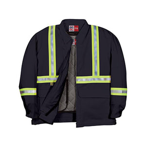 MANTEAU haute visibilité «ZIP IN / ZIP OUT» CL345US9 BIGBILL  HV IGNIFUGE - LES OUTILS BRICK & IRON TOOL
