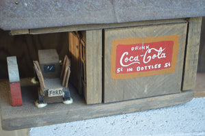Rustic, Primitive Metal Roof Top Country Store/Filling Station/Drink Coca-Cola 5c Sign/Bird House