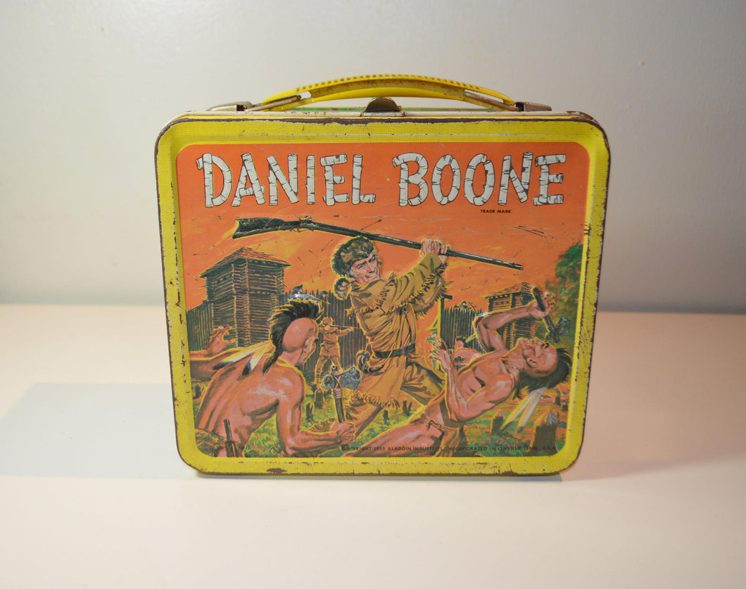Daniel Boone Trademark Child's Metal Lunchbox/1955