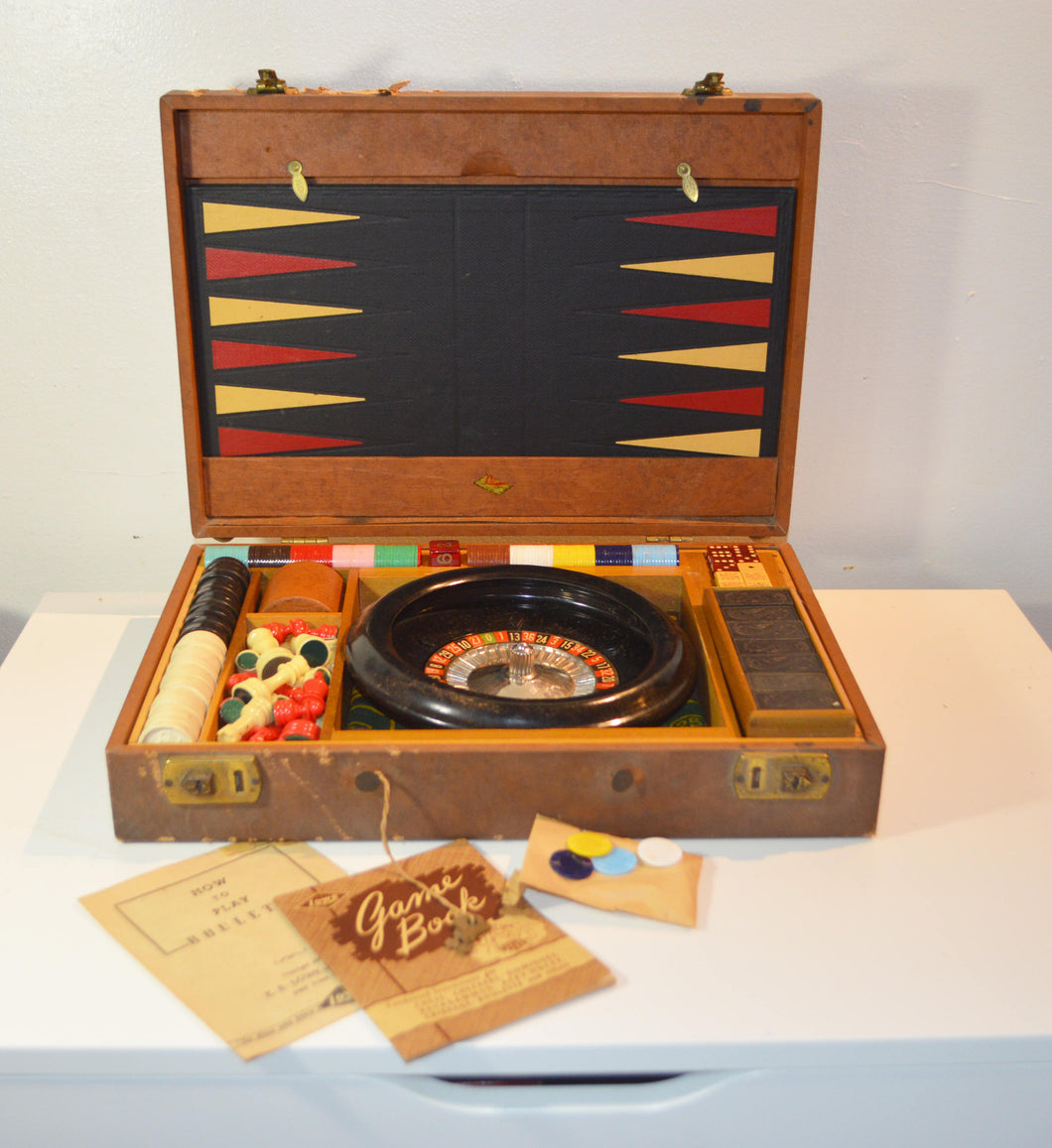 1941 E.S. Lowe Roulette Gaming Set