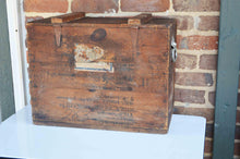 1944 Vintage Large Storage Wood Box