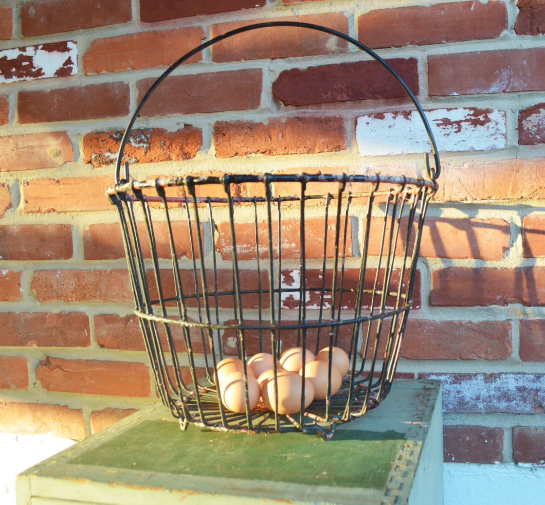 Vintage/ Cottage Chic/ Farmhouse/ Industrial Egg or Oyster Wire Basket