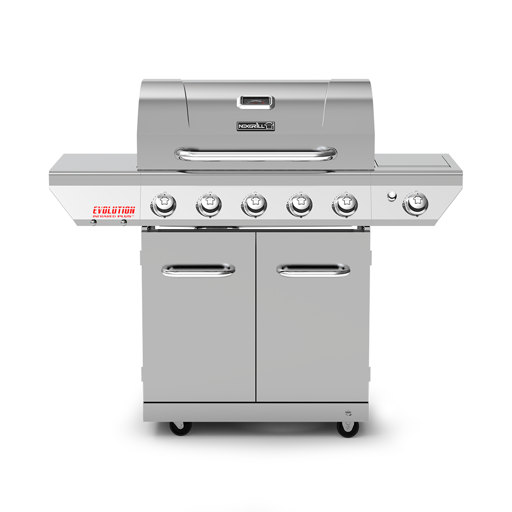 Evolution Infrared Plus 5-Burner Propane Gas Grill with Stainless Steel Side Burner