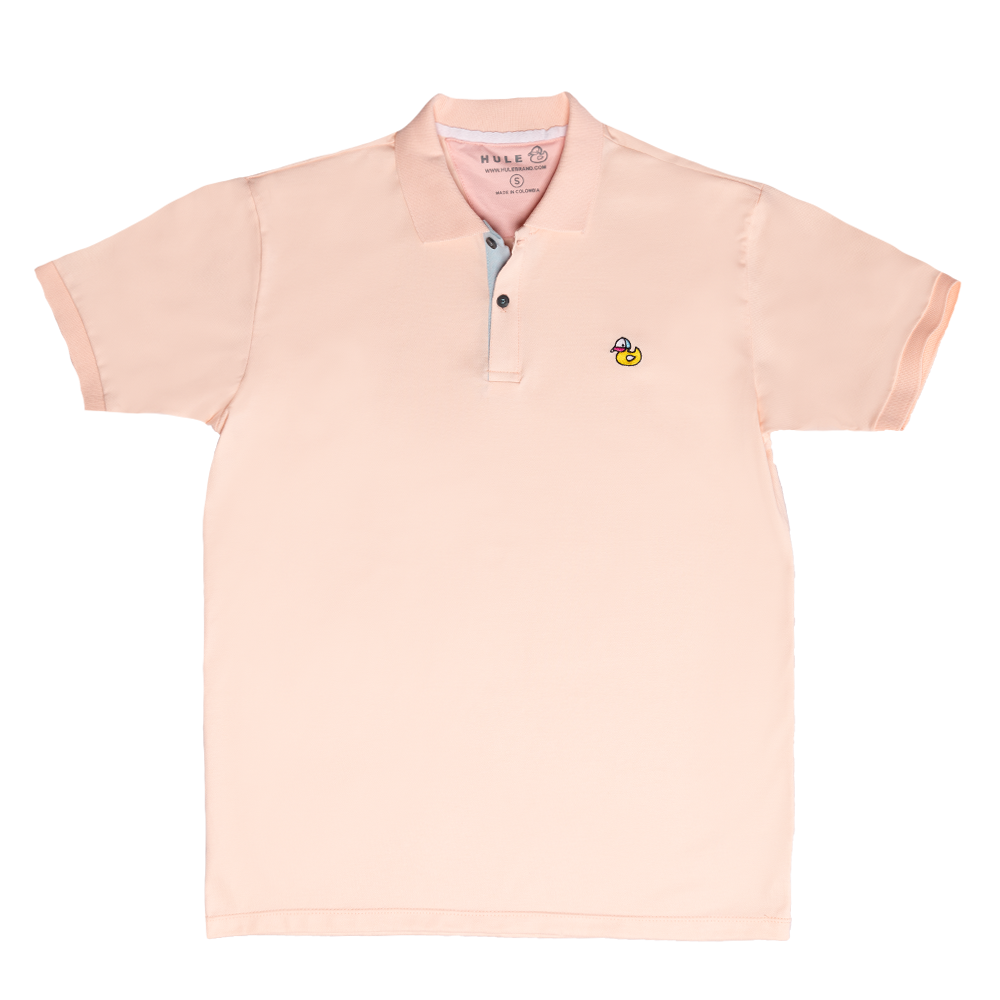 Light Pink Polo Shirt - Hule Caps