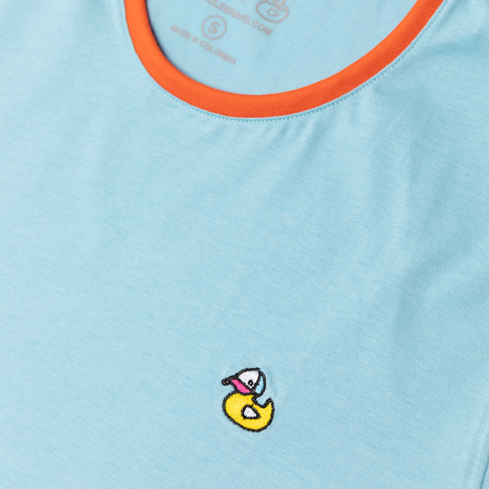 Hule Baby Blue and Orange T-Shirt