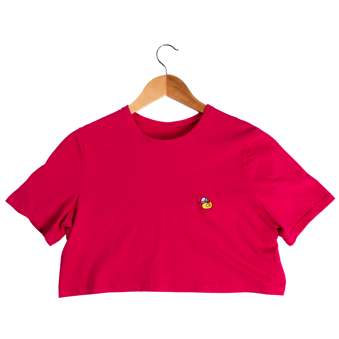 Hule Crop-Top T-Shirt (fucsia) - Hule Caps
