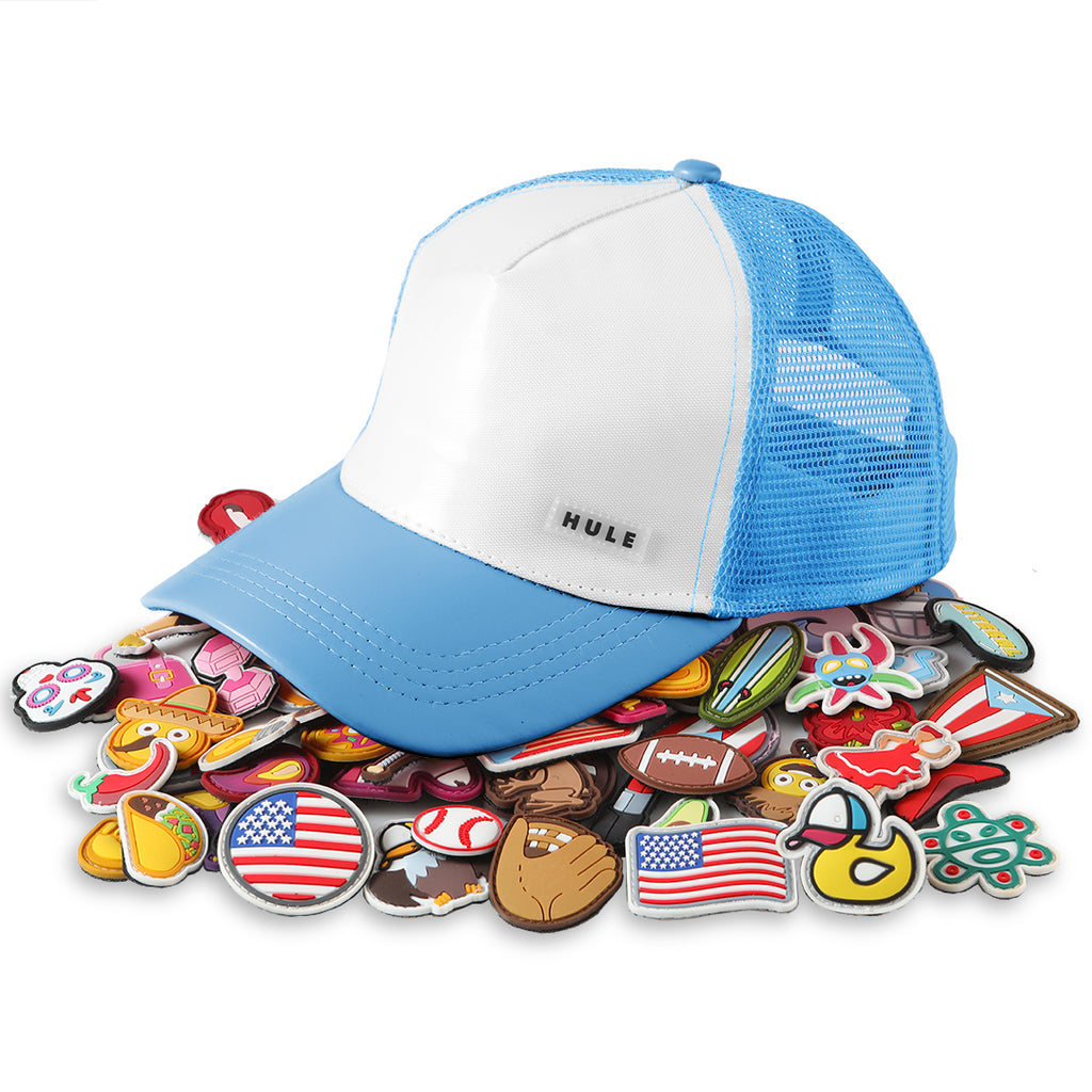 Cotton Candy Blue kids Hule Cap