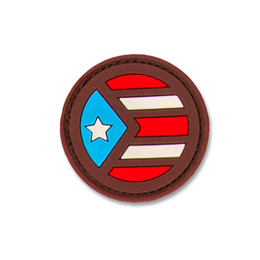 Puerto Rico Rounded Flag