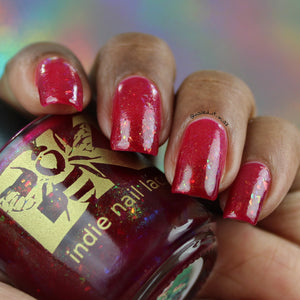 "Bees Knees Lacquer ""I Love Me Strawberry Smiggles"""