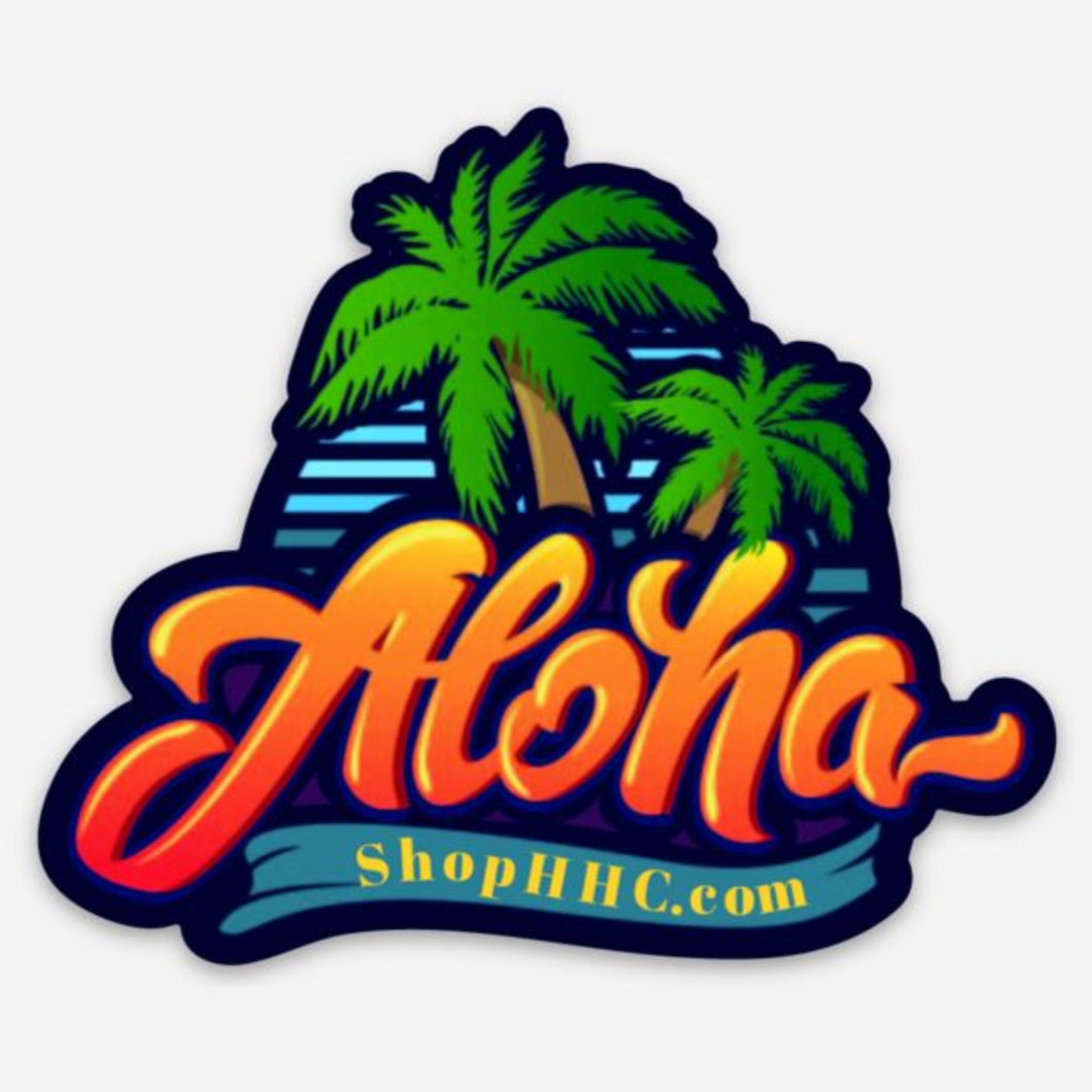 HHC Aloha Sticker with Palm Trees