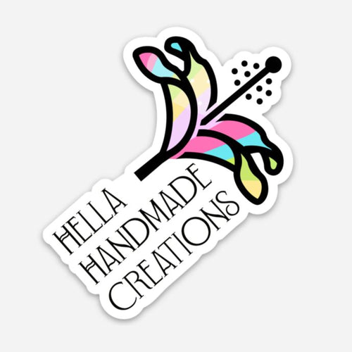 Hella Handmade Creations Rainbow Hibiscus Decal