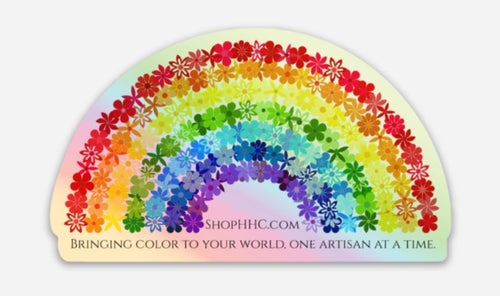 Rainbow Flower Holo Decal - Bringing Color To Your World -Small