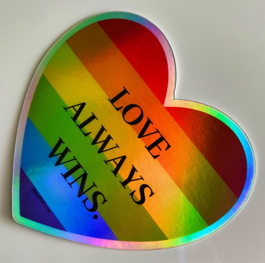 Love Always Wins Decal