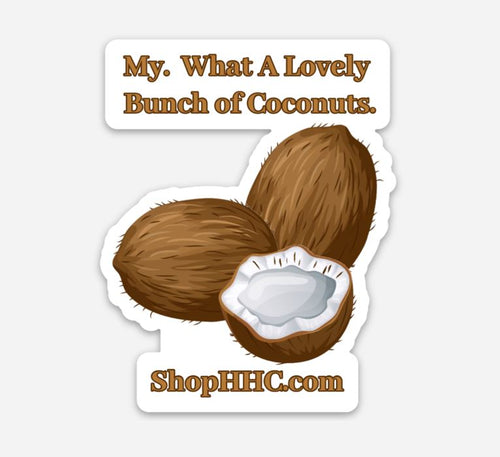 HHC Coconuts Decal