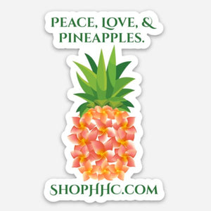 HHC Plumeria Pineapple Decal