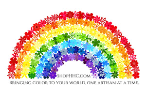 Rainbow Flower Holo Decal - Bringing Color To Your World - Large