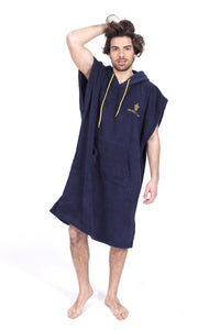 Pacifique Sud Blue w/sleeves - Surf Changing Robe Poncho