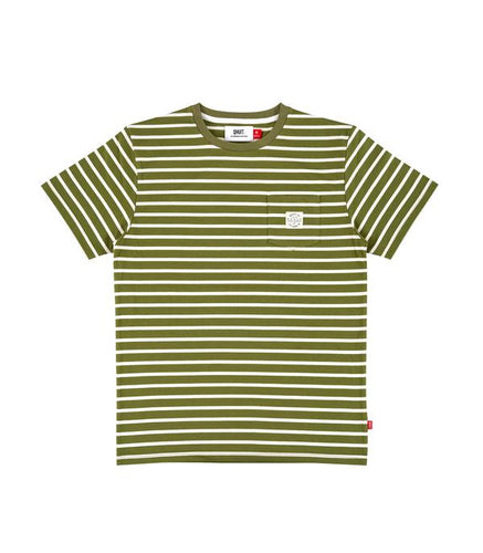 Qhuit Tee Pocket Stripe - Green