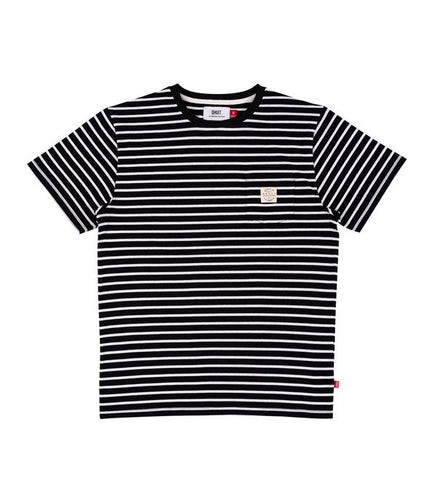 Qhuit Tee Pocket Stripe - Black