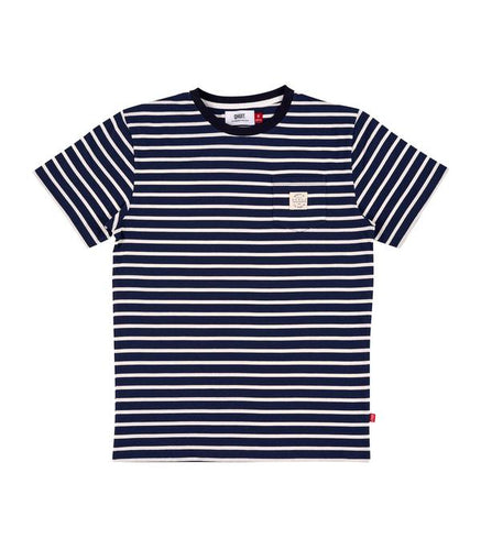 Qhuit Tee Pocket Stripe - Navy
