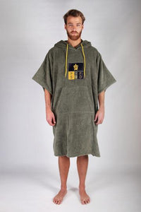 Pacifique Sud Green w/sleeves - Surf Changing Robe Poncho