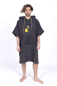 Pacifique Sud Grey w/sleeves - Surf Changing Robe Poncho
