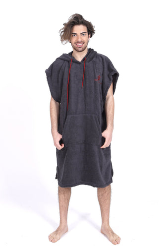 Pacifique Sud Grey - Surf Changing Robe Poncho