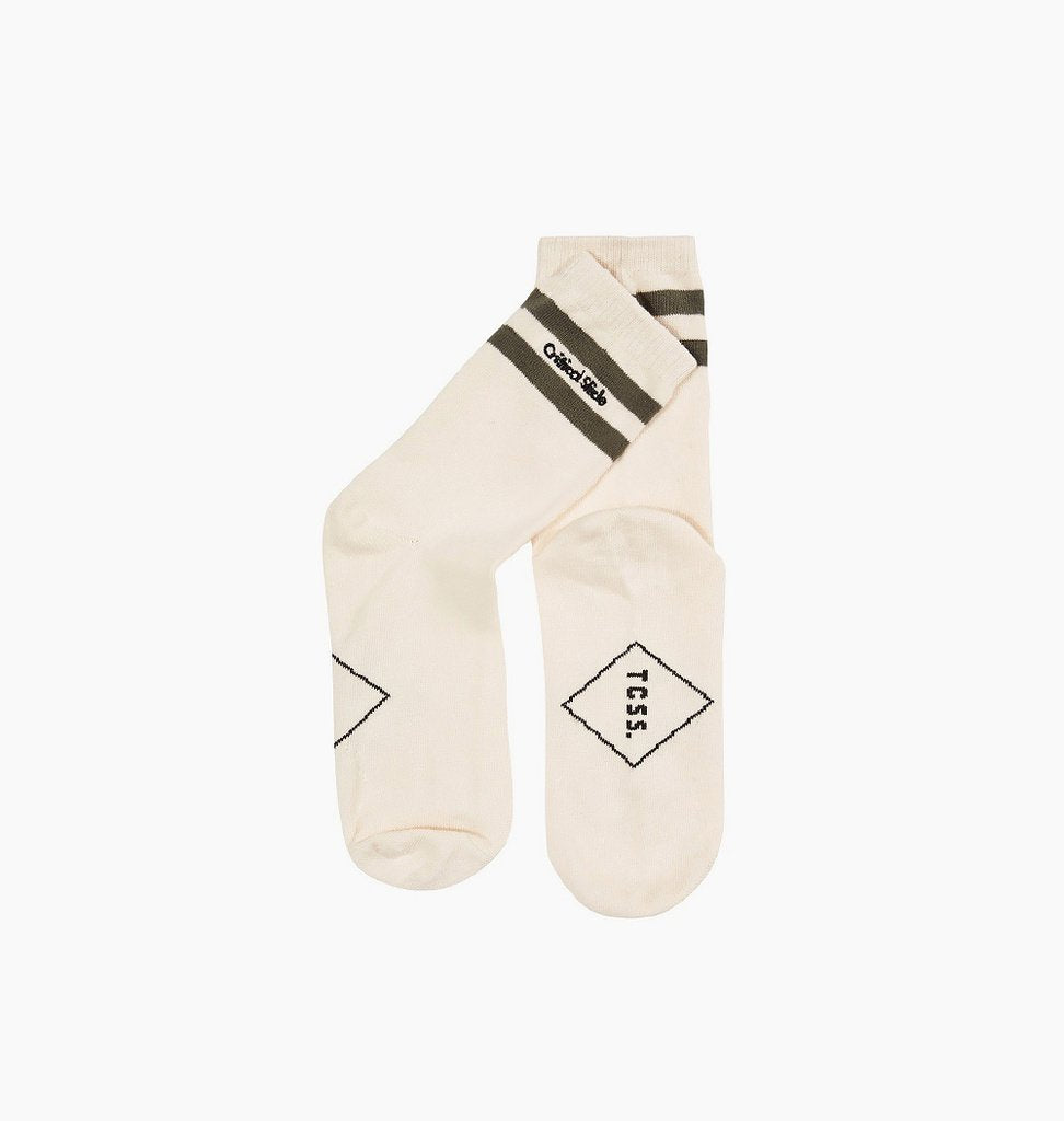 TCSS Commune Stripe Sock - Dirty White