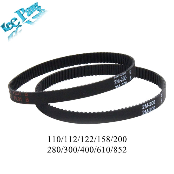 GT2 Closed Loop Timing Belt Rubber 2GT 6mm 3D Printers Parts 110 112 122 158 200 280 300 400 610 852 mm Synchronous Belts Part - Fun Buy Shop