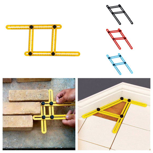 New Measuring Instrument Angle-izer Template Tool Four-sided Ruler Mechanism Slides Measures All Angles - Fun Buy Shop