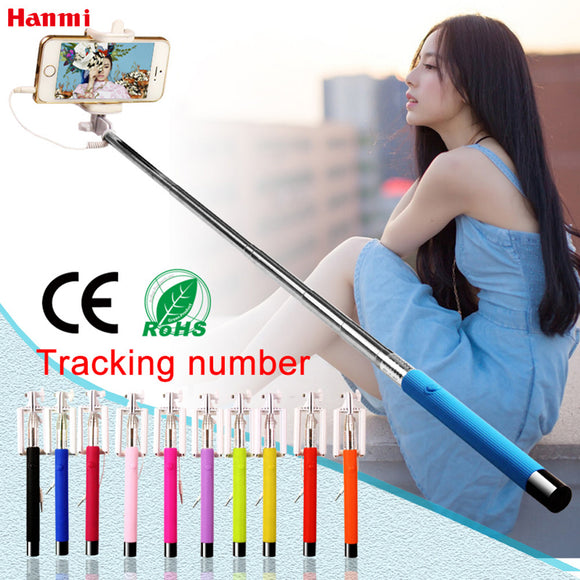 Mini Foldable Self Stick Tripod Monopod Wired Selfie Stick Cable Extendable Built-in Shutter Stick For iPhone Samsung Smartphone - Fun Buy Shop
