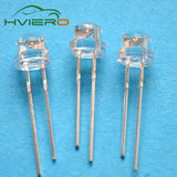 100Pcs 5mm Diode Straw Hat White Red Green Blue Yellow Pink Smd Smt Led Water Clear Super Bright Wide Angle Bulb 20000mcd Lamp - Fun Buy Shop