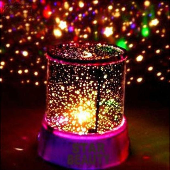LED Night Light Projector Lamp Colorful Star Light Bedside Lights (Random Color) - Fun Buy Shop