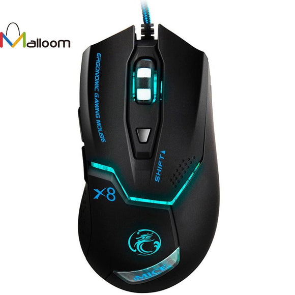 Malloom Fashion 2017  Game Mouse 3000 DPI LED Optical 6D USB Wired Gaming Game Mouse For PC Laptop - Fun Buy Shop