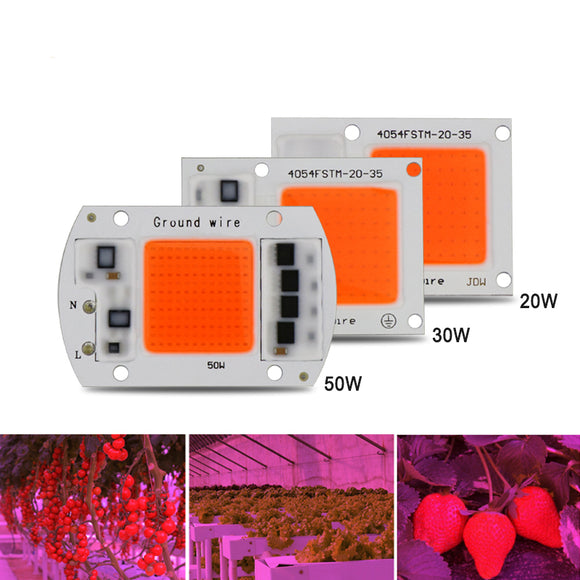1pcs Hydroponice AC 220V 20w 30w 50w led grow chip full spectrum 380nm-840nm for indoor led grow light - Fun Buy Shop
