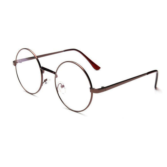Fashion Unisex Classic Metal Frame Mirror Rounded Glasses - Fun Buy Shop